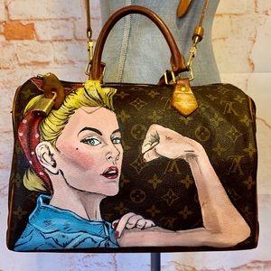 Louis Vuitton Speedy 30 Hand Painted